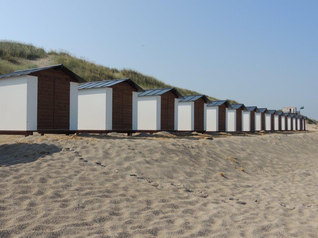 Group of beach cabins