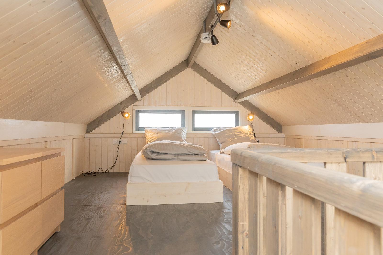 MK4 tiny house - bedroom under the attic