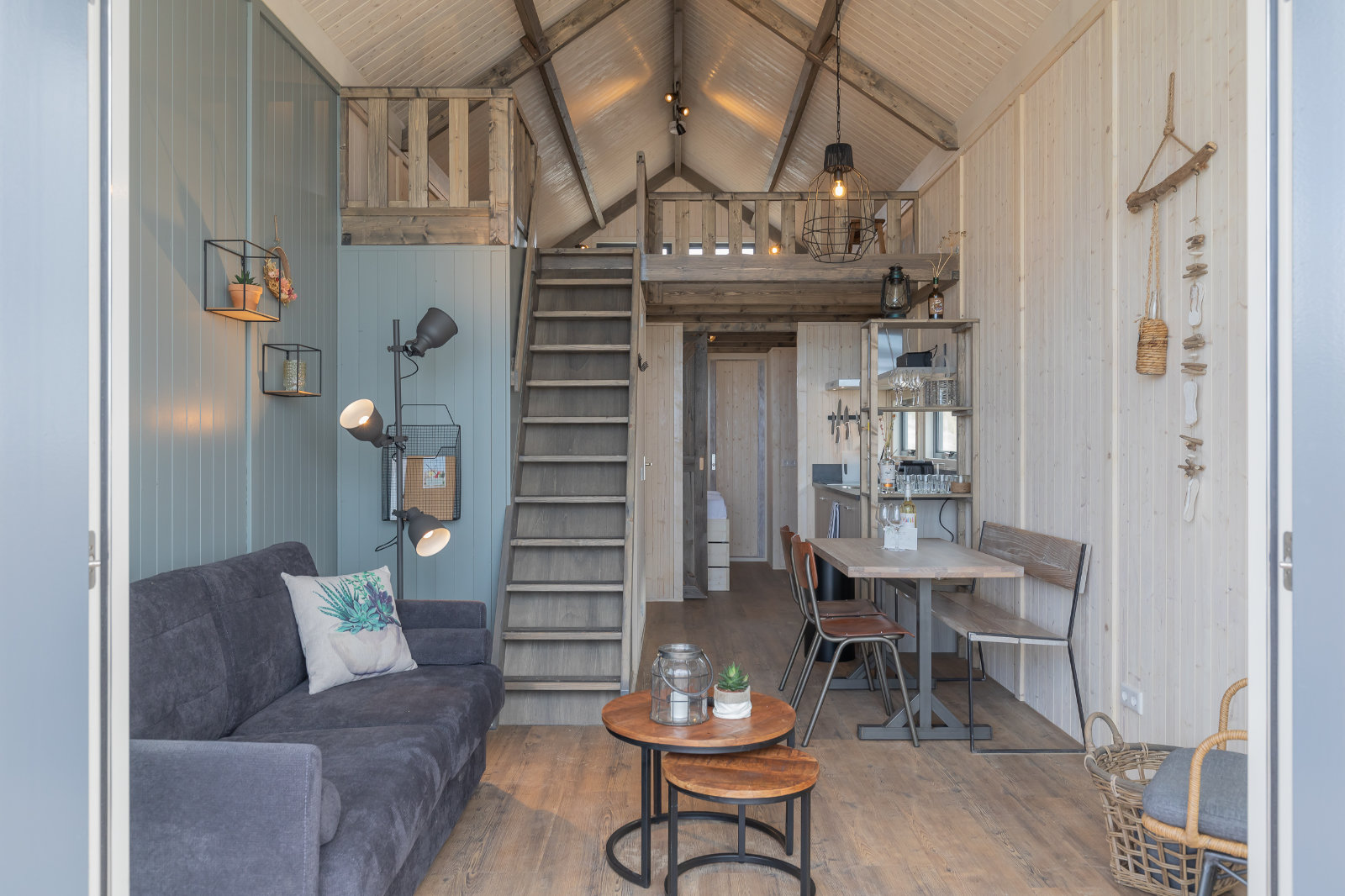 MK4 tiny house - living room front view